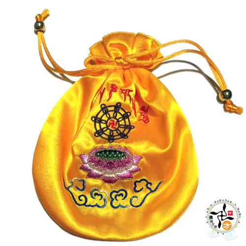 高級法輪常轉念珠袋(黃)   【十方佛教文物】