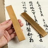 鎮尺-漢墨 黃銅鎮尺鎮紙 書法毛筆大號簡約黃銅對鎮 文房四寶 提拉米蘇
