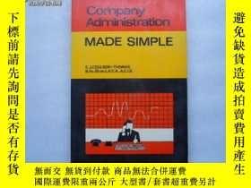 二手書博民逛書店Company罕見Administration MADE SIM