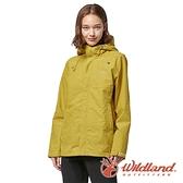 【wildland 荒野】女 輕薄防水高透氣機能外套『芥末黃』W3913 戶外 休閒 運動 露營 登山 騎車