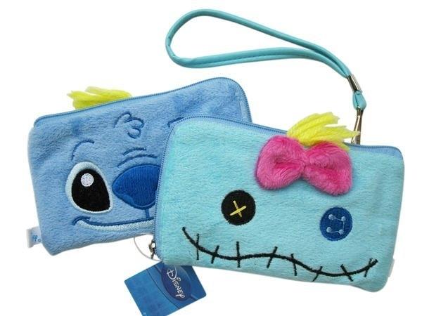 【卡漫城】 史迪奇 醜丫頭 手機袋 雙面圖 ㊣版 Scrump Stitch 絨毛 拉鍊 票卡包相機包 星際寶貝