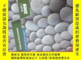二手書博民逛書店Equity罕見and Fixed Income 2009 LEVEL I VOLUME 5Y22725