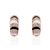 耳環 純銀鍍18K金鑲鑽-高貴時尚生日情人節禮物女飾品3色73cg35[時尚巴黎]