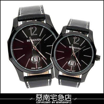 惡南宅急店【0346F】古典美學‧男錶女錶『日期方角手錶』可當情侶對錶‧單支價