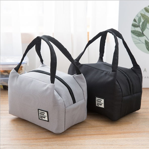 保溫袋-素面簡約牛津布內層鋁箔保冷保溫肩背便當袋 外出旅遊防水午餐包  輕旅行 野餐必備