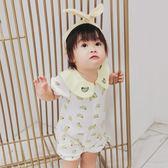 感恩聖誕 嬰兒衣服夏裝0-6個月寶寶夏季薄款連體衣哈衣純棉新生兒夏天爬服