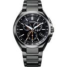 CITIZEN 星辰 光動能萬年曆電波計時手錶-黑 CB5045-60E