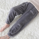 兒童棉褲 兒童暖暖褲冬季加絨加厚寶寶保暖褲男童居家睡褲外穿女童褲子【快速出貨八折下殺】