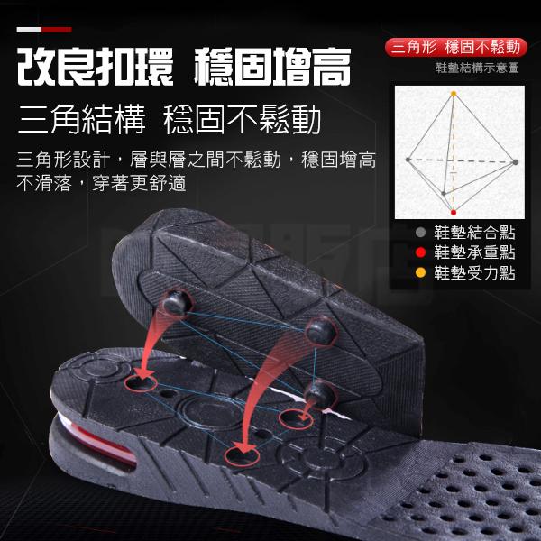 鞋墊 增高墊 增高鞋墊 加厚鞋墊 可剪裁 隱形鞋墊 隱形增高 氣墊 防震 減壓 外出 高度可選