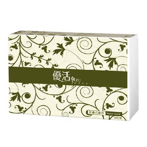 【Livi優活】抽取式摺疊擦手紙巾 (200抽x20包/箱)