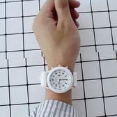 微微一笑很傾城手錶女學生簡約休閒黑白糖果色果凍錶  良品鋪子