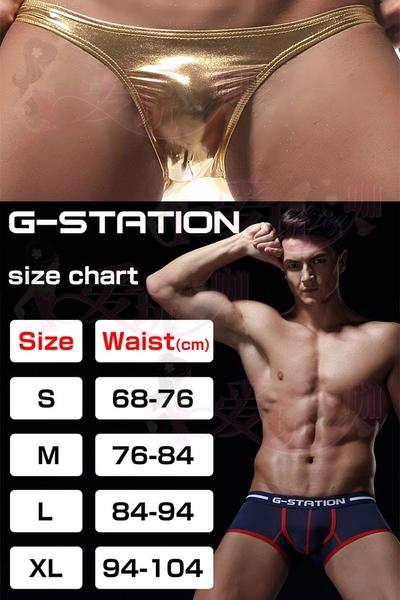 ● 閃耀銀 L號 ●日本 G-Station 金屬光澤感極致服貼 低腰性感三角褲 SILVER BIKINI