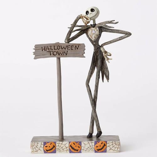 《Enesco精品雕塑》迪士尼聖誕夜驚魂傑克站姿塑像-Welcome to Halloween Town_EN84898