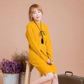 台灣製●半高領針織套頭內搭洋裝毛衣-中大尺碼  獨具衣格