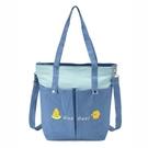 黃色小鴨兩用包/肩背包/手提包/拼布包包