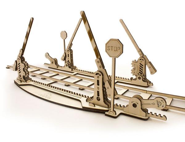 Ugears 自我推進模型 Set of rails 鐵軌及平交道組件 diy自走精品 烏克蘭