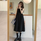 洋裝 2021年新款夏裙子設計感黑色吊帶裙連衣裙女【618特惠】