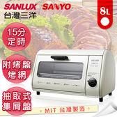 台灣三洋SANLUX 8L定時電烤箱 SK-08A