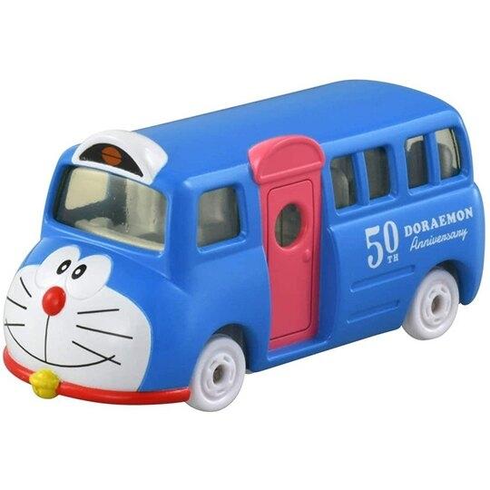 小禮堂 TOMICA多美小汽車 哆啦A夢 造型巴士 玩具車 模型車 (158 藍) 4904810-16213
