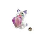 【收藏天地】台灣紀念品*大貓抱天燈夜光冰箱貼-紫