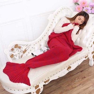 毛毯 懶人毯-人魚尾巴仿羊絨針織毯子7色73pp489【時尚