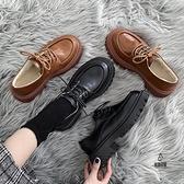 日系小皮鞋女英倫風冬季加絨棉鞋復古厚底百搭jk鞋子【愛物及屋】
