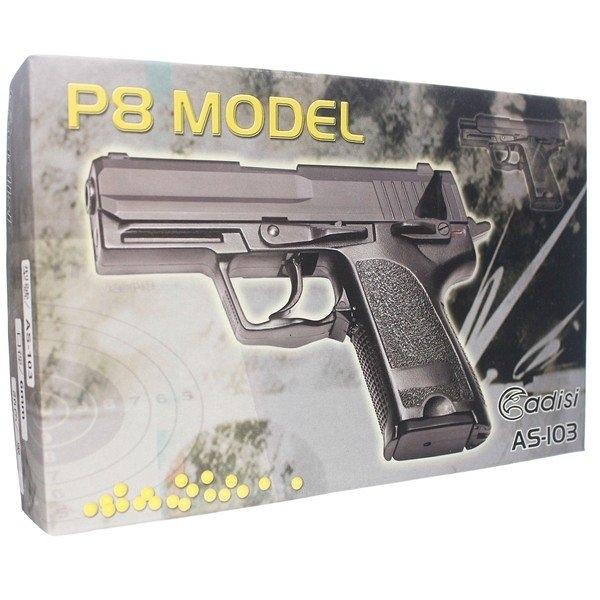 台灣製 空氣槍 AS-103 BB槍 P8 MODEL(黑色)/一支入(促630) 加重型 手拉空氣槍 玩具槍-佳