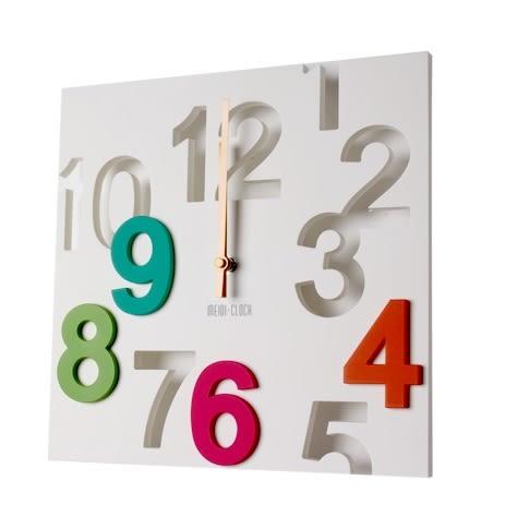 彩色拼盤造型時鐘掛鐘-3色(CM2/1105)【DD House】