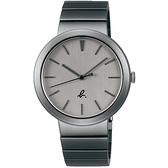 【台南 時代鐘錶 agnes b.】BH8057X1 VJ21-KTF0N 經典LOGO 鋼錶帶男錶 38mm 黑/灰