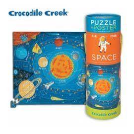 《美國Crocodile Creek》2合1海報拼圖系列-太空之旅(200片裝)