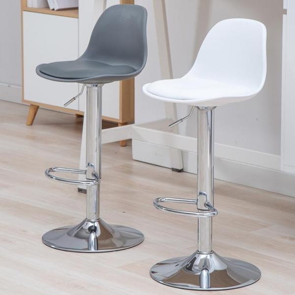 吧台椅北歐式現代簡約前台椅升降椅家用高腳凳酒吧椅子靠背時尚轉 青木鋪子