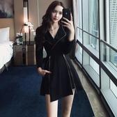 夜場連身裙女2019新款性感顯瘦時尚氣質長袖酒吧女裝夜店裙子秋裝 ☸mousika