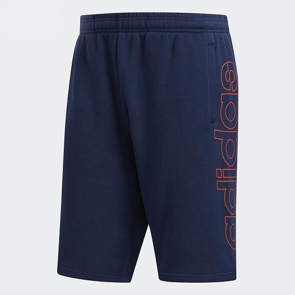 ADIDAS ORIGINALS OUTLINE SHORTS 深藍 橘 棉質 大logo 運動短褲 (布魯克林) 2019/4月 DV3273