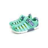 中童 日本 IFME 透氣 魔鬼氈 排水孔 花卉 輕量 機能 水涼鞋《7+1童鞋》C407 綠色