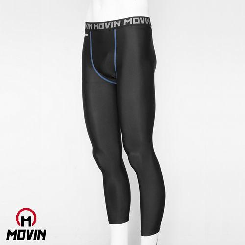 MOVIN  運動彈力長褲  黑藍  MB31102BN  機能運動長褲----男/女