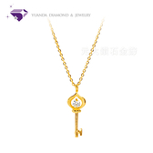 【元大鑽石銀樓】『幸福之鑰』黃金項鍊、純金套鍊-純金9999國家標準