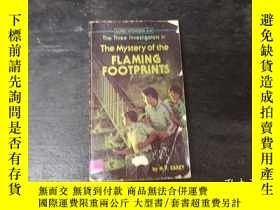 二手書博民逛書店the罕見mystery of flaming footprin