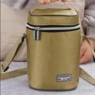 保溫包 飯盒袋女保溫袋帆布防水便當包鋁箔圓形加厚飯盒包帶飯的手提袋包  降價兩天