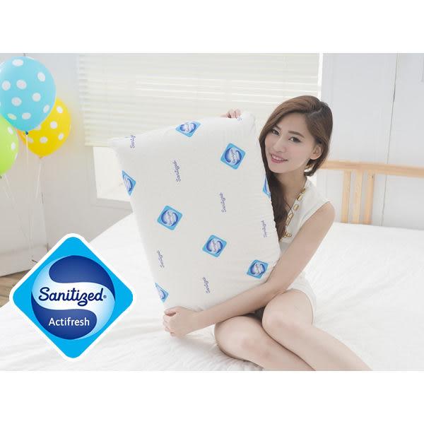 [Snug Nights]國際抗菌技術sanitized山寧泰☆40×65cm防蹣抗菌100%天然乳膠枕