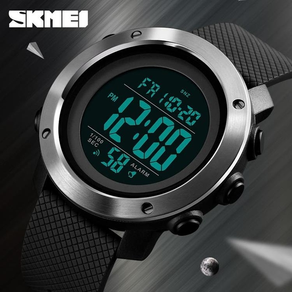 正品[]電子手錶男韓版簡約潮休閑學生運動秒錶跑步倒計時腕錶