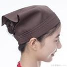 頭巾女包頭廚房廚師帽子工作帽透氣夏季西餐廳服務員餐飲男女三角 漾美眉韓衣