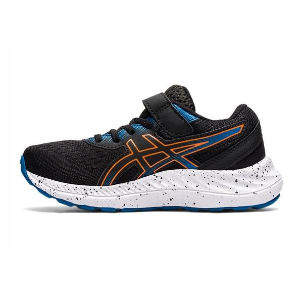 Asics Pre Excite 8 Ps [1014A197-004] 中童鞋 慢跑 運動 休閒 輕量 支撐 黑 橘