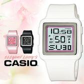 CASIO 卡西歐手錶 POPTONE LDF-20-7A 數字電子女錶 白色 橡膠錶帶 生活防水50米 LDF-20