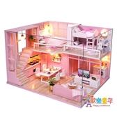 娃娃屋 兒童玩具小女孩學生公主生日禮物7 8 9 10 12歲過家家手工娃娃屋 5色