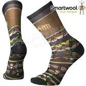 Smartwool Curated SW003834-100褐色 男印花輕薄中長襪 美麗諾羊毛襪/機能排汗襪