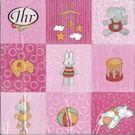 寶寶玩具(粉)-德國 IHR 餐巾紙(33x33cm)