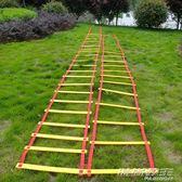 幼兒園早教兒童感統器材體能訓練跳房子戶外親子玩具跳格子敏捷梯     時尚教主