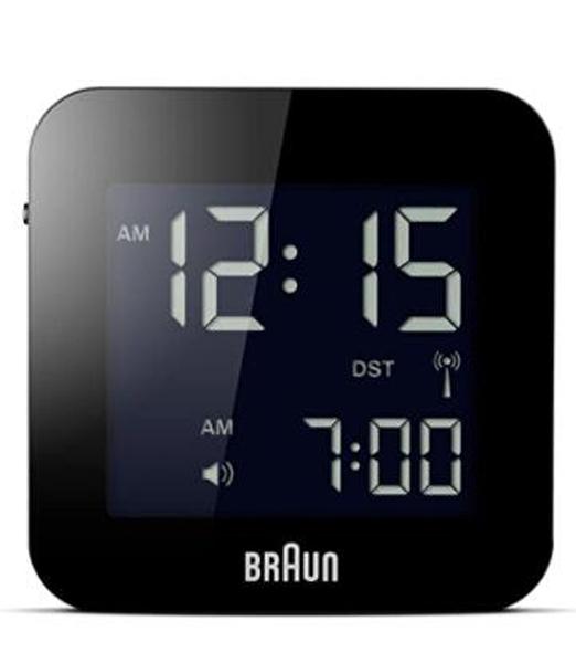[2美國直購] 數字方形鬧鐘 Braun Men's Digital Square Alarm Clock B00M98842C