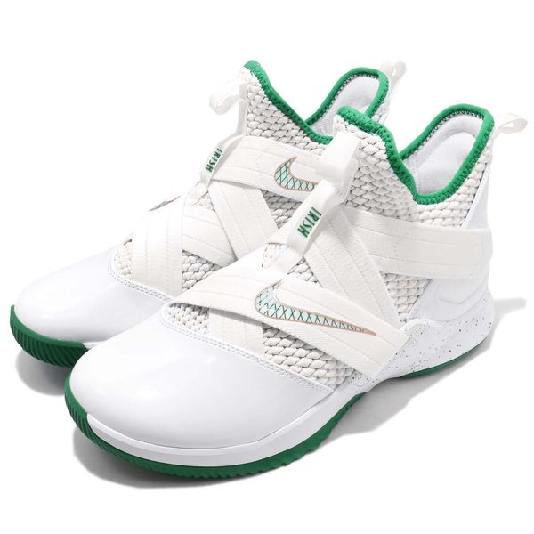 Nike LeBron Soldier XII EP 12 SVSM 白 綠 金 士兵 男鞋 籃球鞋 XDR 【PUMP306】 AO4053-100