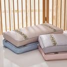 枕頭 冰絲全蕎麥艾草涼枕頭低枕夏天涼席枕單人午睡助睡眠夏季透氣涼爽
